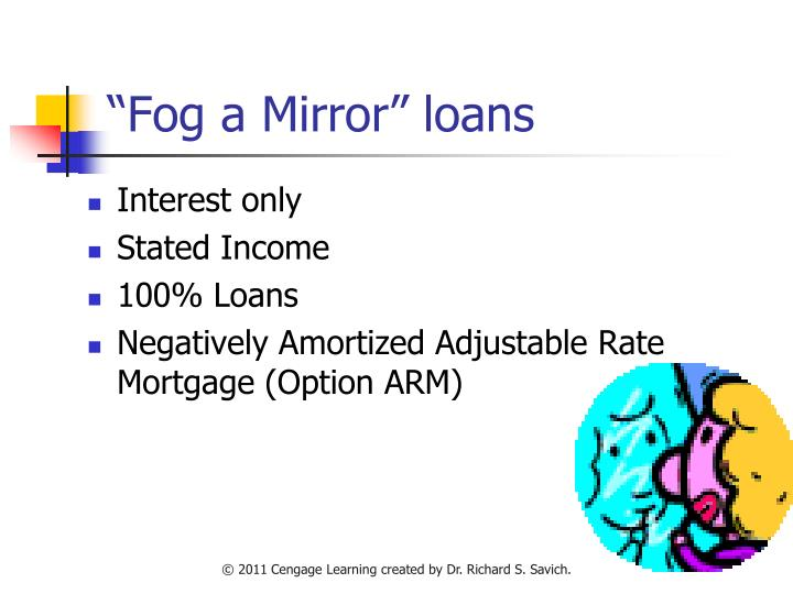 """Fog a Mirror"" loans"