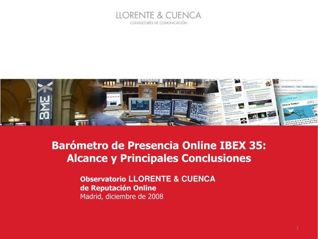 Barómetro de Presencia Online IBEX 35: