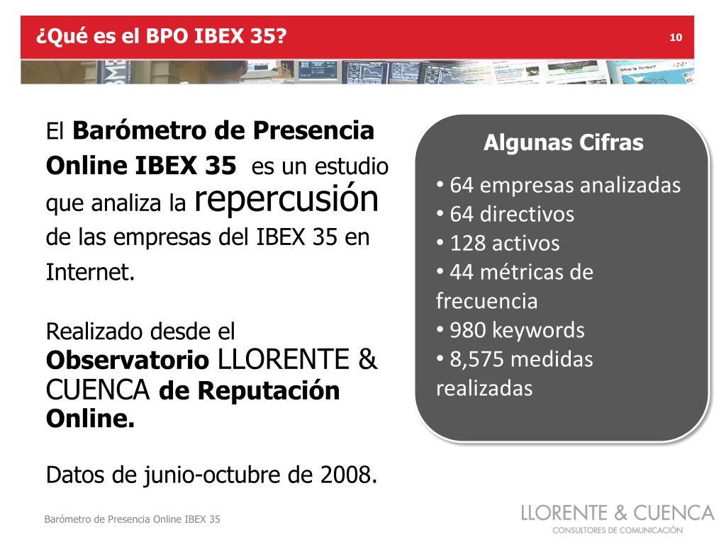 ¿Qué es el BPO IBEX 35?