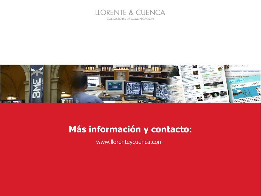 Más información y contacto: