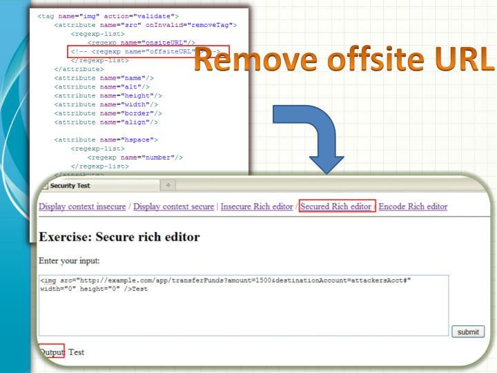 Remove offsite URL