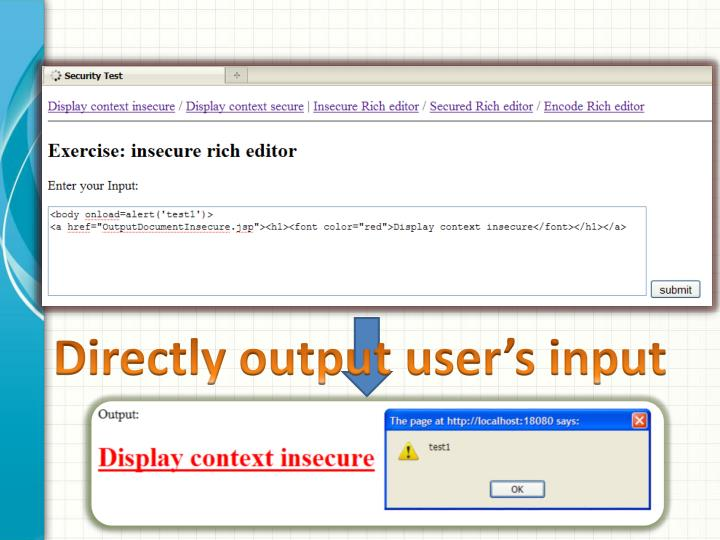 Directly output user's input
