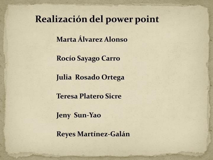 Realización del power point