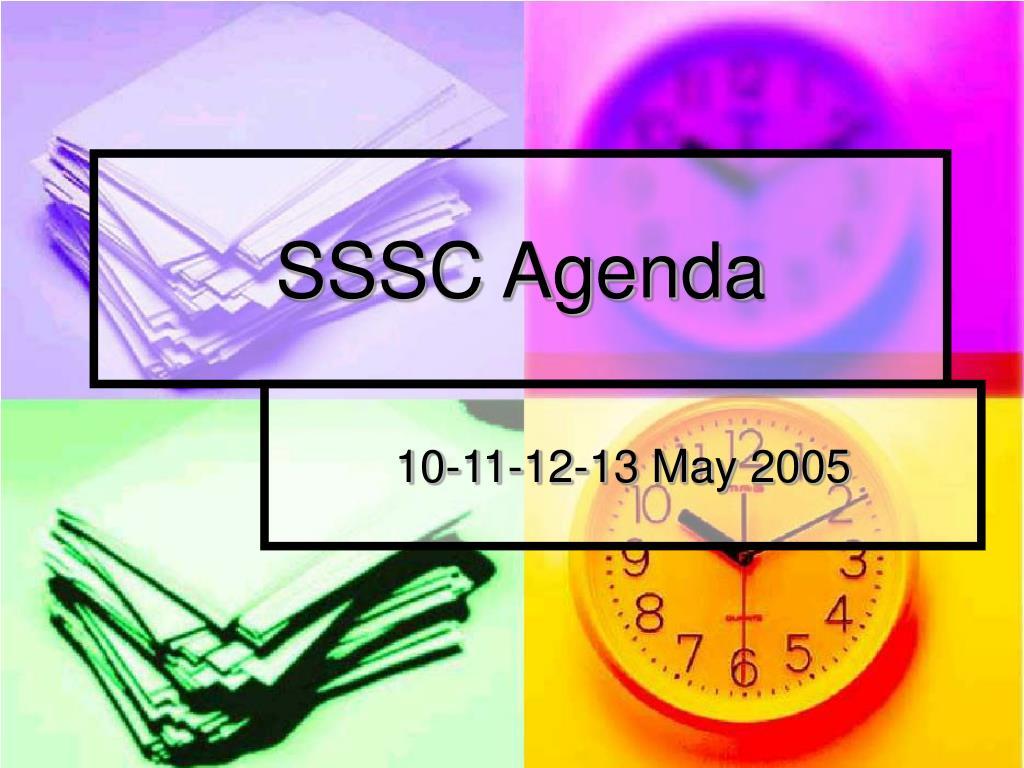 SSSC Agenda