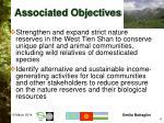 associated objectives