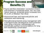 program success and benefits 1