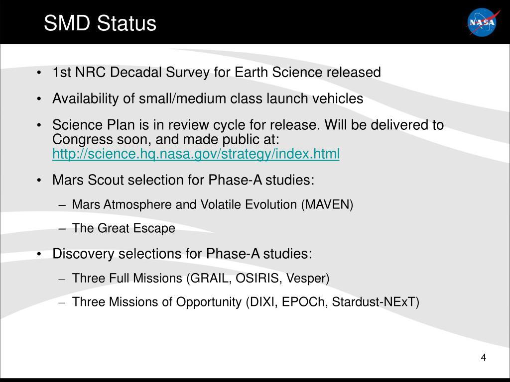 SMD Status