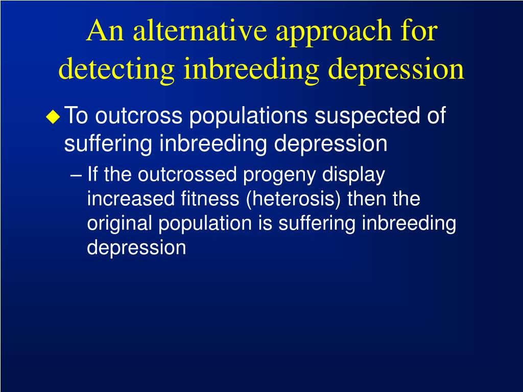 An alternative approach for detecting inbreeding depression