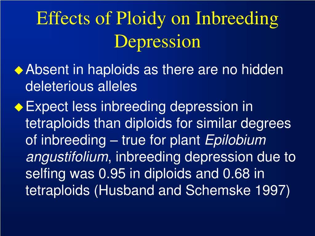 Effects of Ploidy on Inbreeding Depression