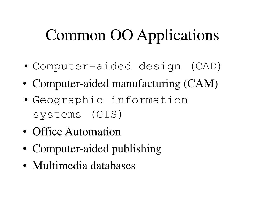 Common OO Applications