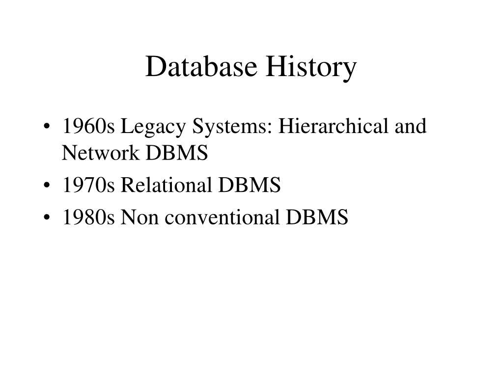 Database History