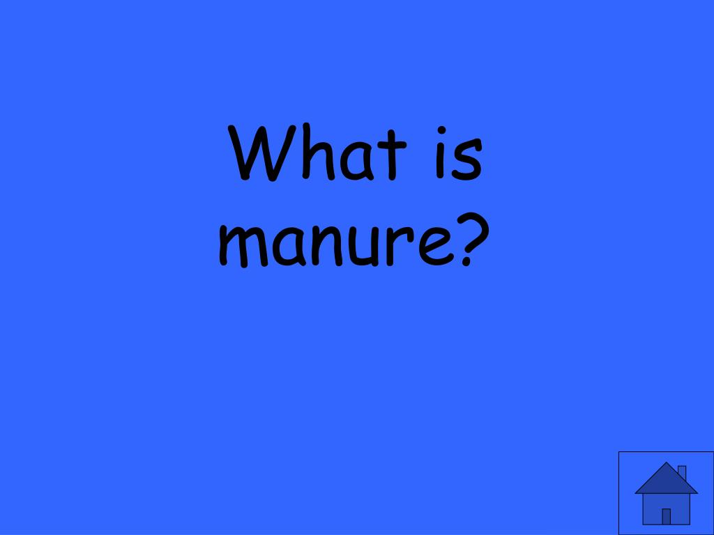 What is manure?