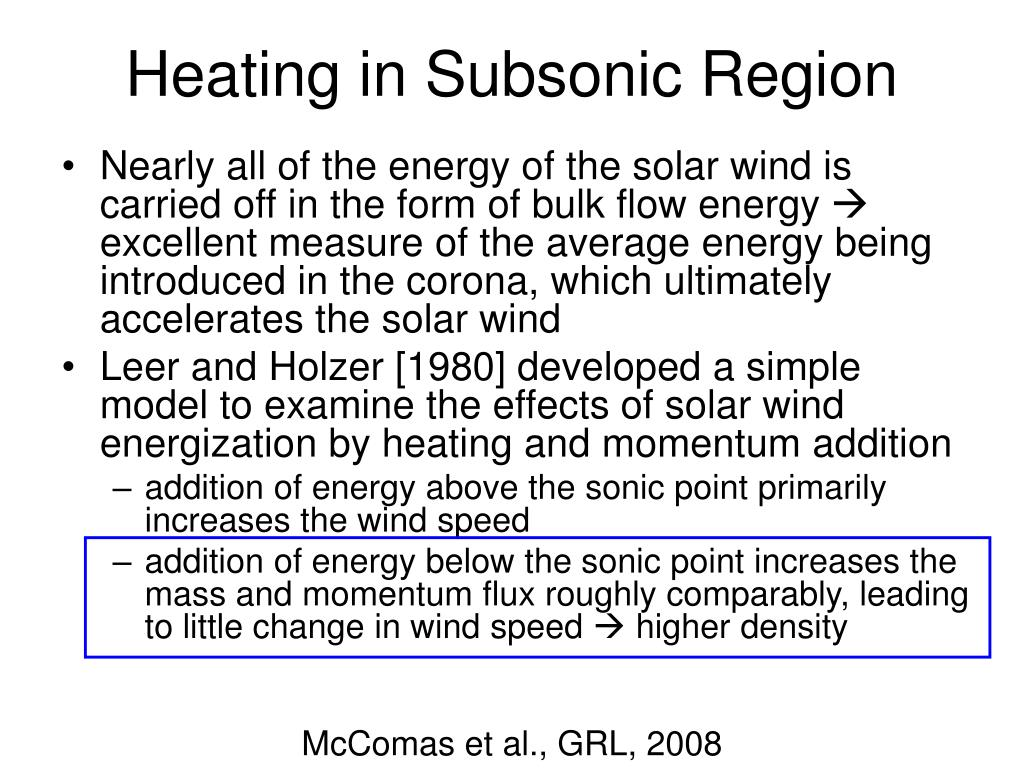 Heating in Subsonic Region