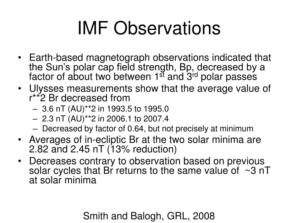 IMF Observations