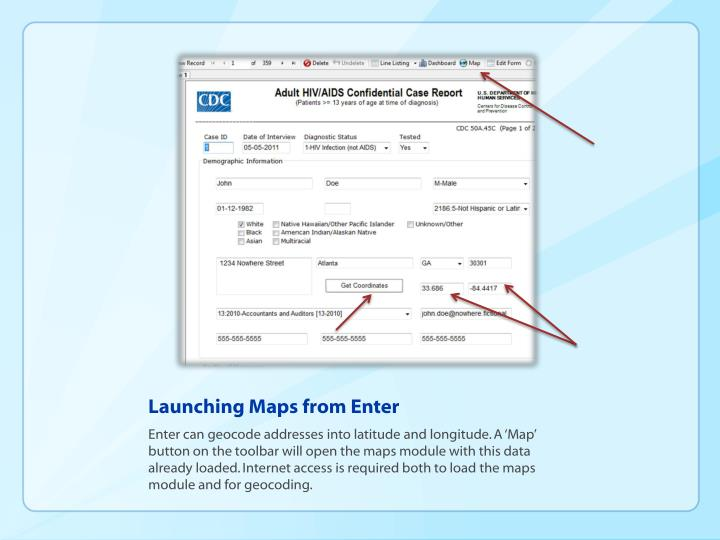 Launching maps from enter