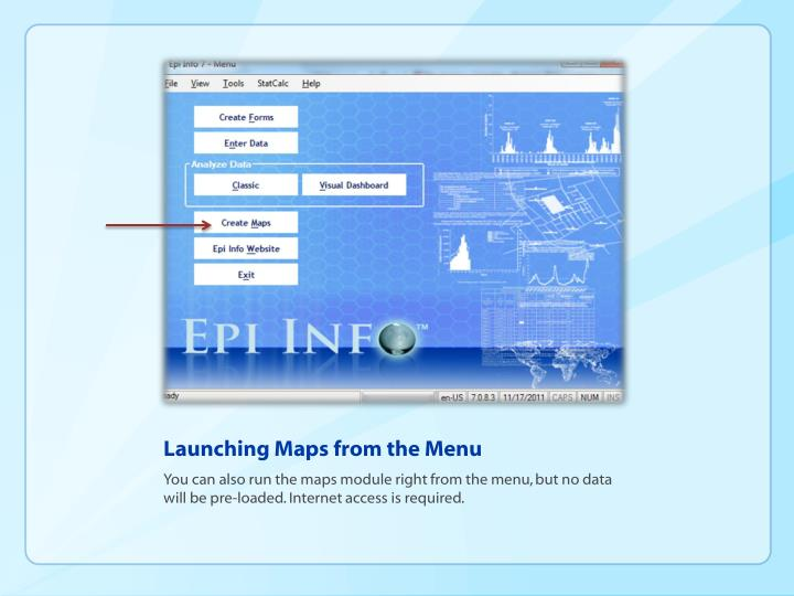 Launching Maps from the Menu