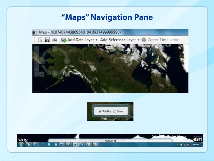 """Maps"" Navigation Pane"