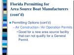 florida permitting for area source boat manufacturers cont d8