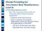 florida permitting for area source boat manufacturers cont d9