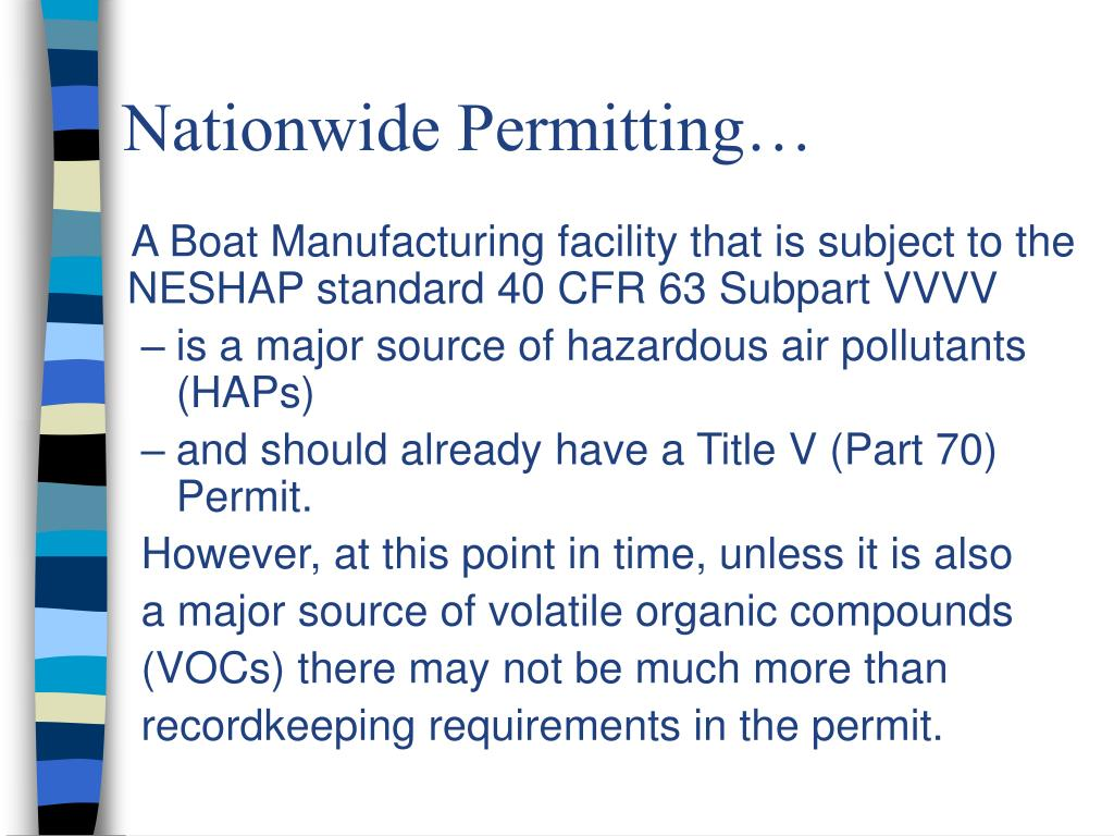 Nationwide Permitting…