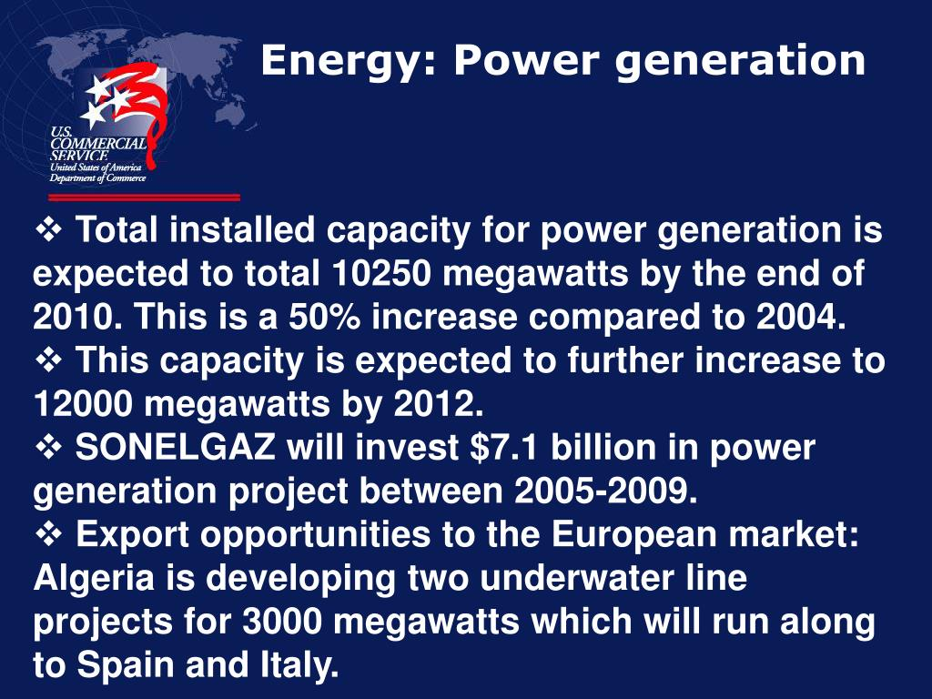 Energy: Power generation