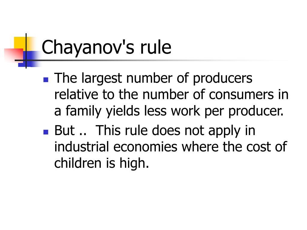 Chayanov's rule