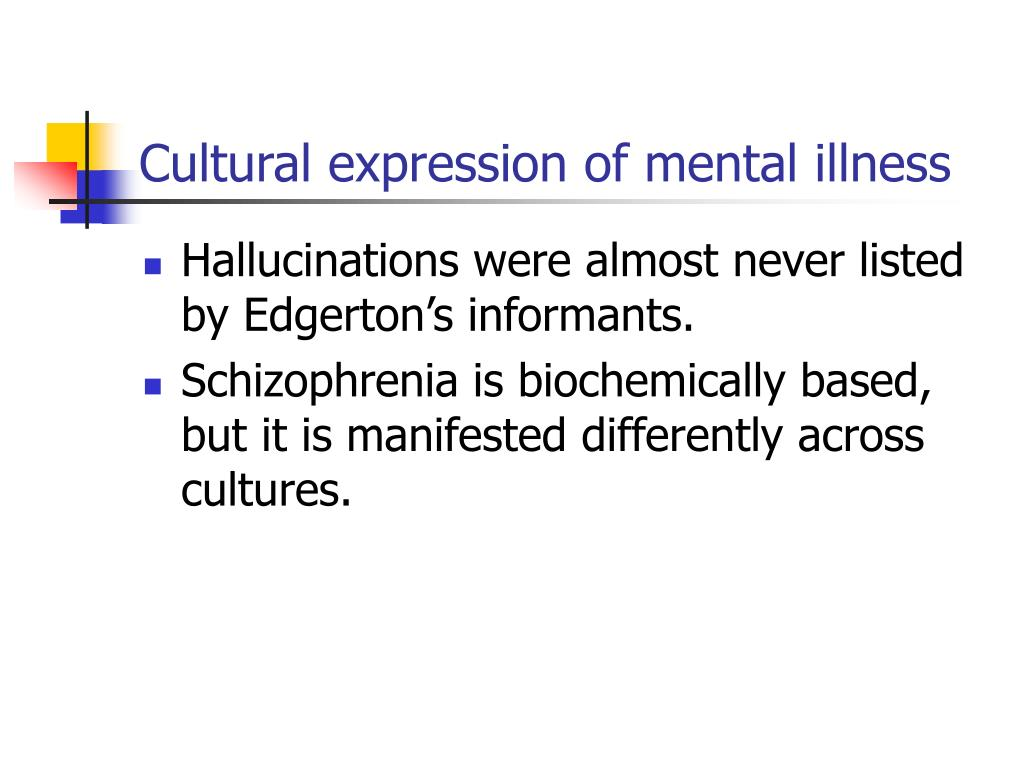 Cultural expression of mental illness