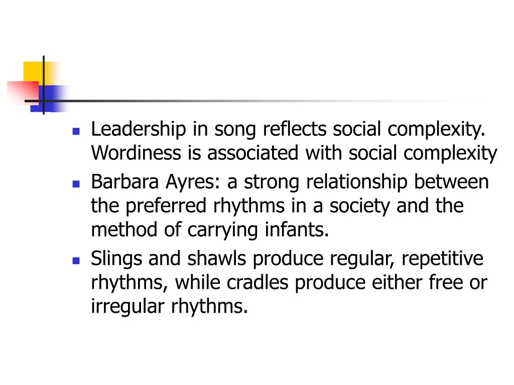 Leadership in song reflects social complexity. Wordiness is associated with social complexity