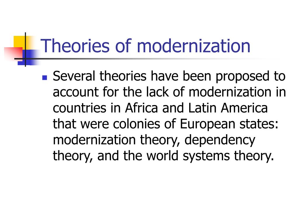 Theories of modernization