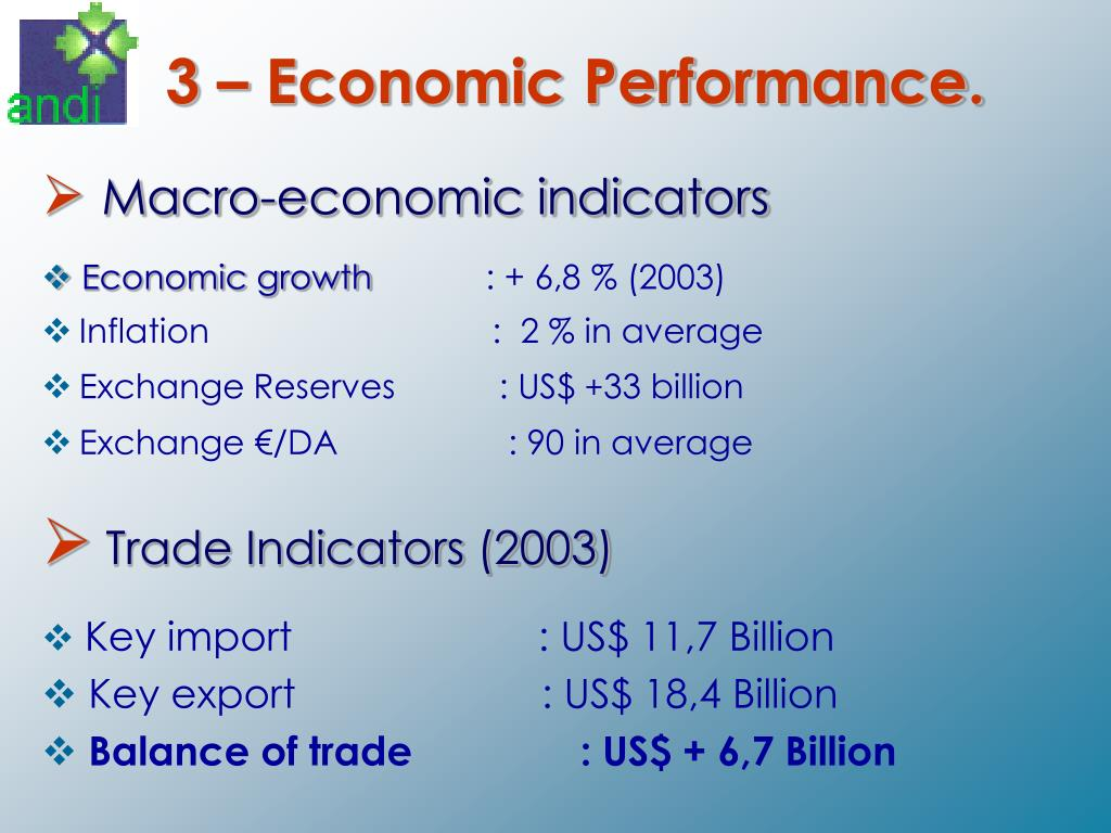 3 – Economic Performance.