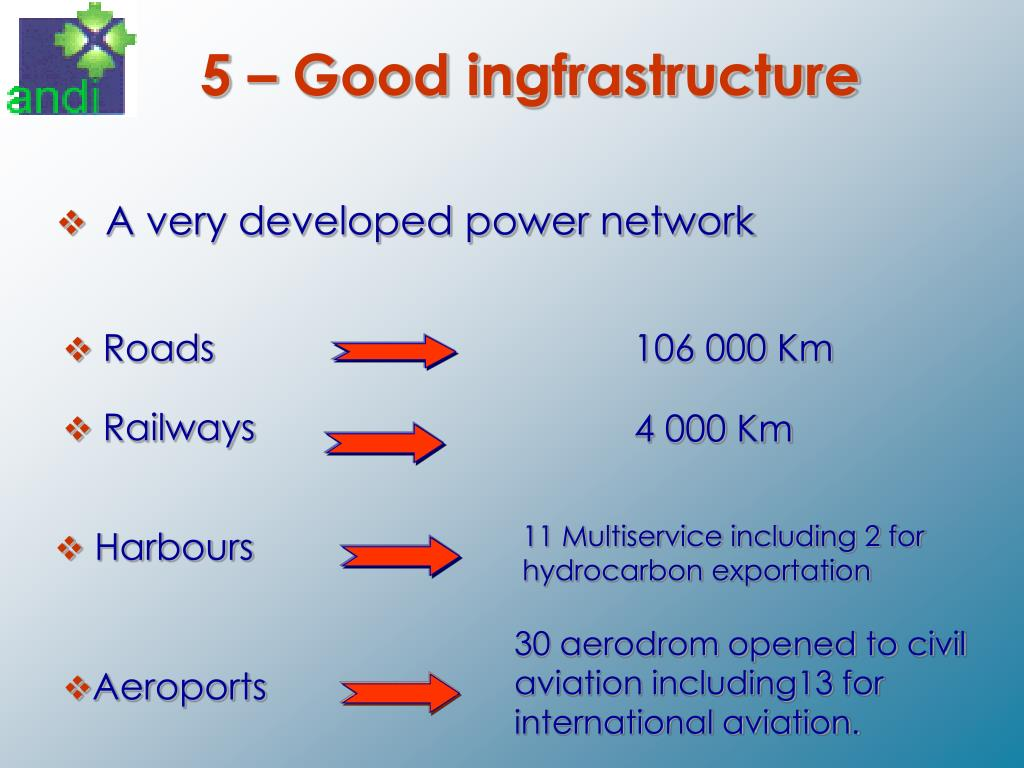 5 – Good ingfrastructure