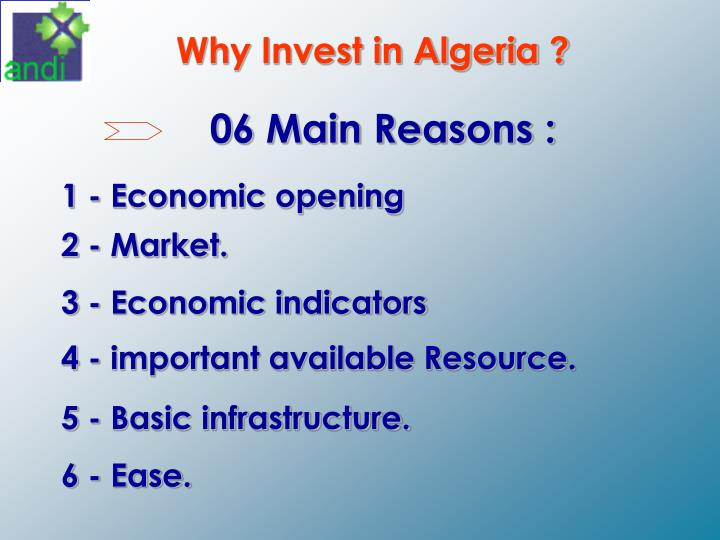 Why Invest in Algeria ?