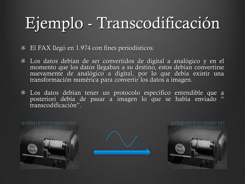 Ejemplo - Transcodificación