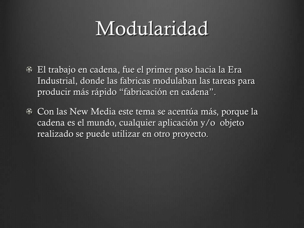 Modularidad