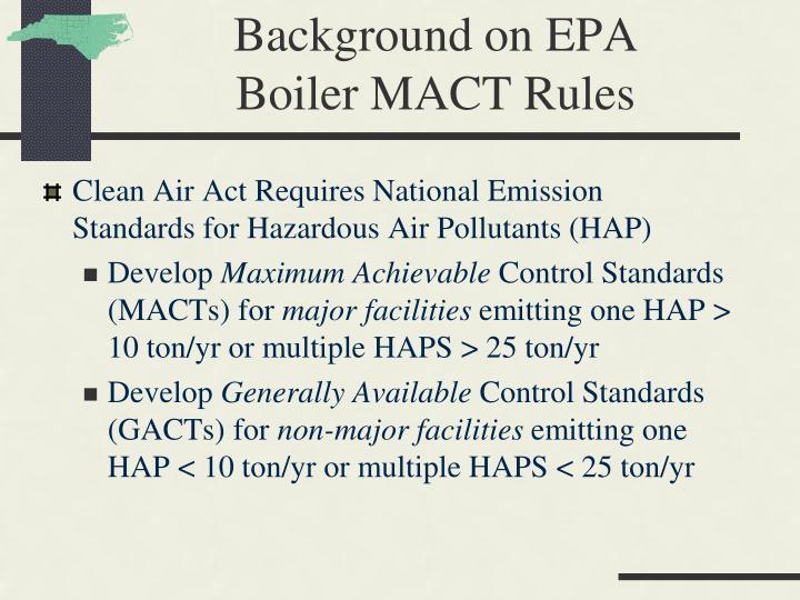 Background on EPA