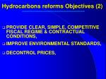 hydrocarbons reforms objectives 2