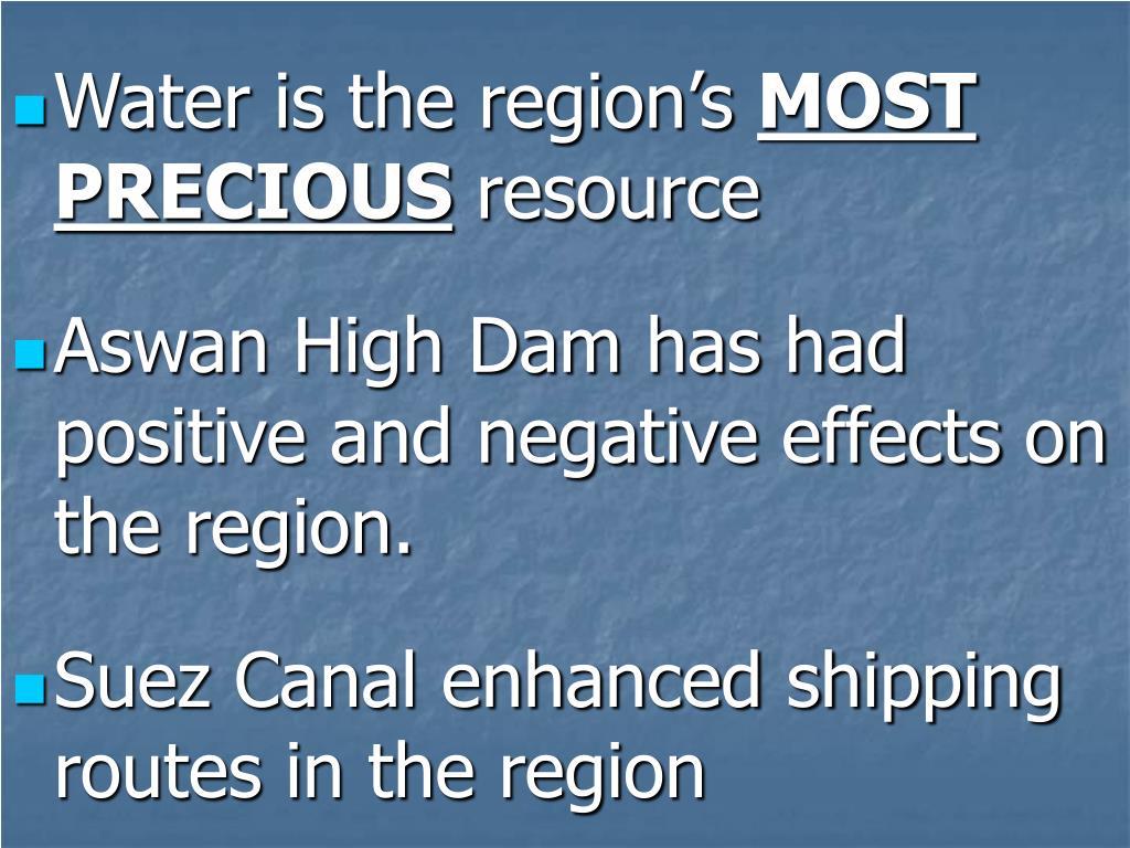 Water is the region's