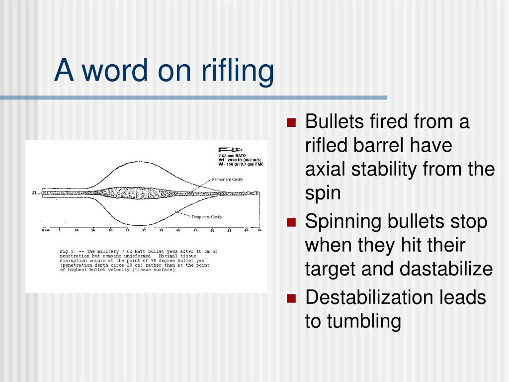 A word on rifling
