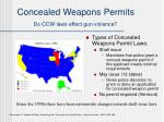 concealed weapons permits do ccw laws effect gun violence