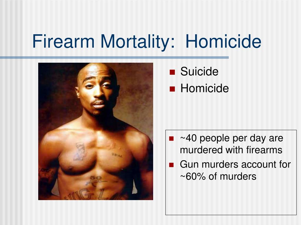 Firearm Mortality:  Homicide
