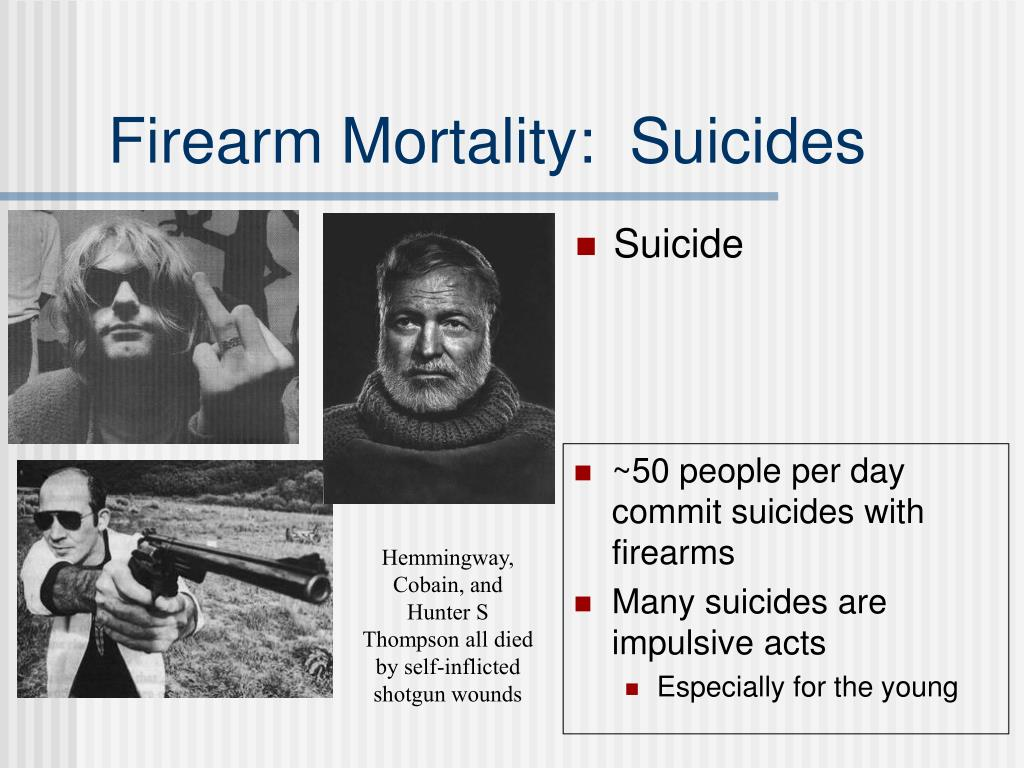 Firearm Mortality:  Suicides