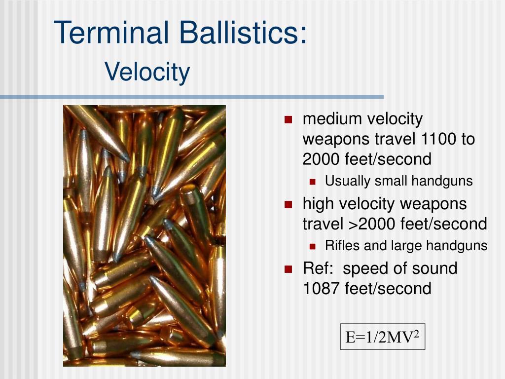 Terminal Ballistics: