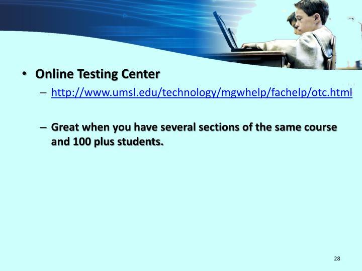 Online Testing Center