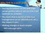 why link to a web page