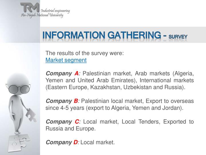 Information gathering -