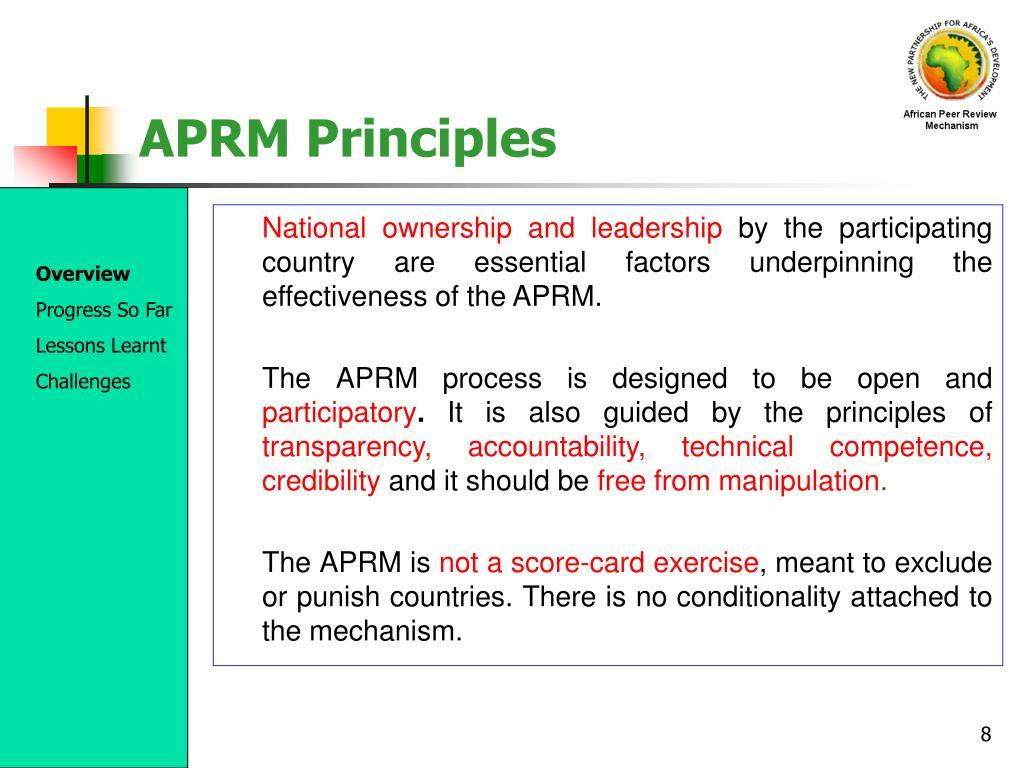 APRM Principles