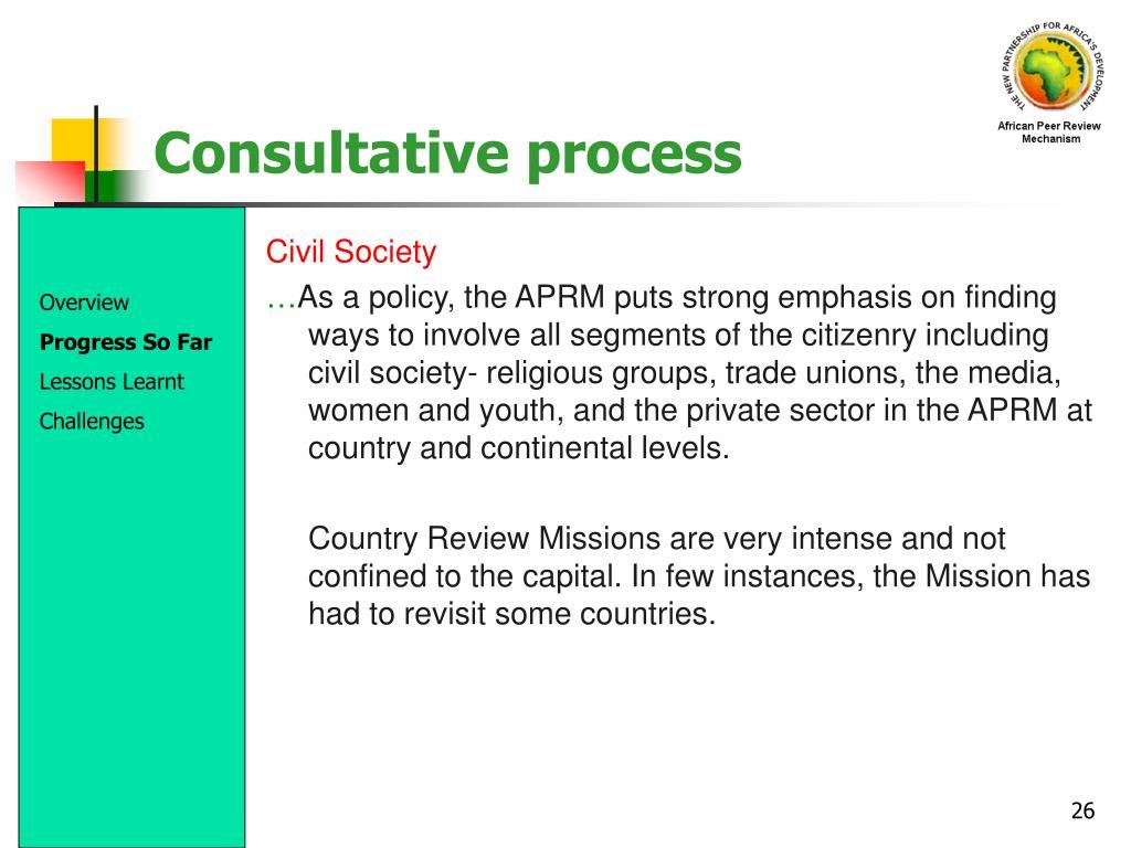 Consultative process