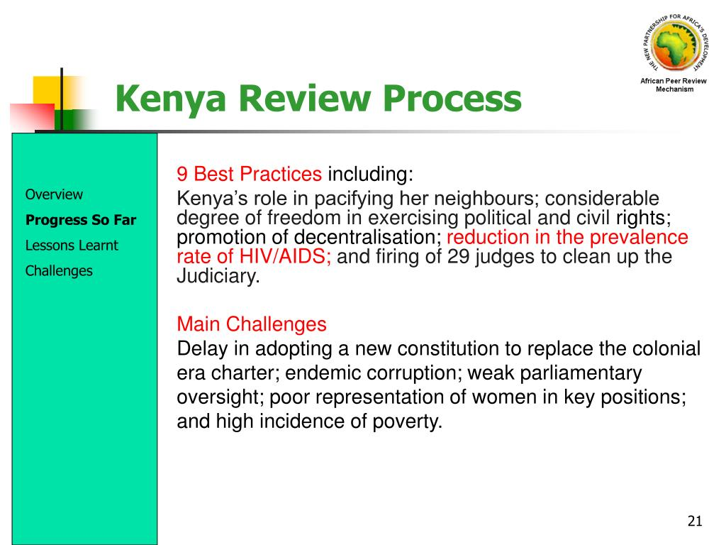 Kenya Review Process