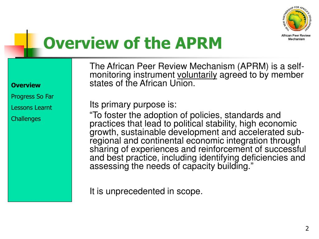 Overview of the APRM