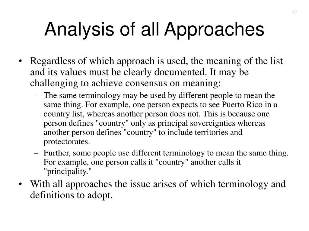 Analysis of all Approaches
